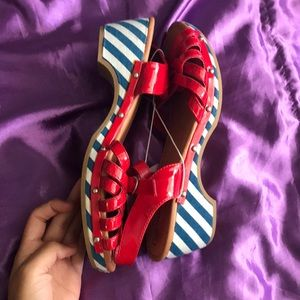 Cherokee Shoes - Cherokee Red, White and Blue Sandals